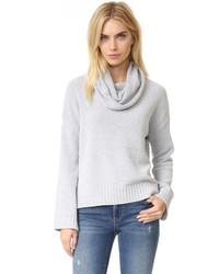 grauer Pullover mit einer weiten Rollkragen von BB Dakota