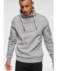 grauer Pullover mit einer weiten Rollkragen von BLEND