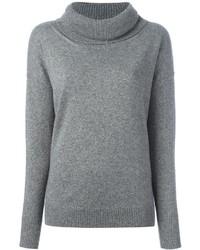 grauer Pullover mit einer weiten Rollkragen von Blumarine