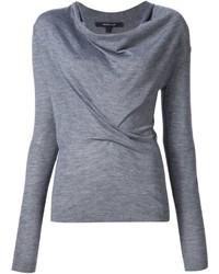 grauer Pullover mit einer weiten Rollkragen von Derek Lam