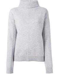 grauer Pullover mit einer weiten Rollkragen von Joseph