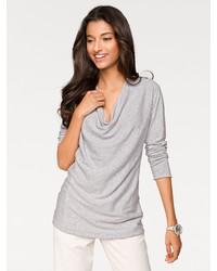 grauer Pullover mit einer weiten Rollkragen von PATRIZIA DINI by Heine
