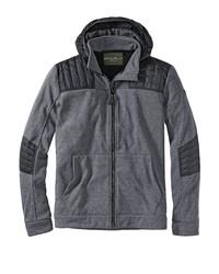 grauer Pullover mit einem Kapuze von Eddie Bauer