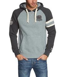 grauer Pullover mit einem Kapuze von Puma