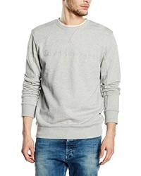 grauer Pullover mit einem Rundhalsausschnitt von Calvin Klein Jeans