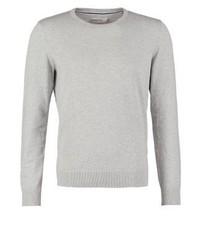 grauer Pullover mit einem Rundhalsausschnitt von Pier One