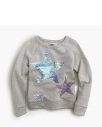 grauer Pullover mit Sternenmuster