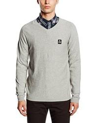 Grauer Pullover mit V-Ausschnitt von Jack & Jones