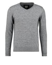 Grauer Pullover mit V-Ausschnitt von KIOMI