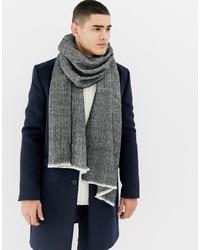 grauer Schal mit Fischgrätenmuster von Burton Menswear