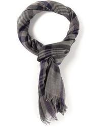 grauer Schal mit Karomuster von Bottega Veneta