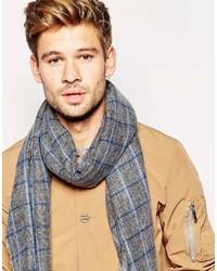 grauer Schal mit Karomuster von Esprit