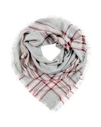 grauer Schal mit Karomuster von mint&berry