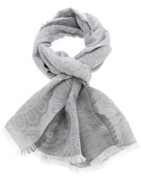 grauer Schal mit Paisley-Muster von Brioni