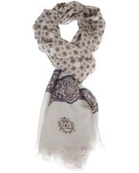 grauer Schal mit Paisley-Muster von Dolce & Gabbana