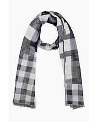 grauer Schal mit Schottenmuster von Neil Barrett