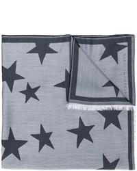 grauer Schal mit Sternenmuster von Stella McCartney