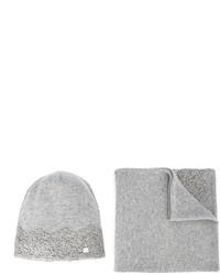 grauer Schal von Miss Blumarine