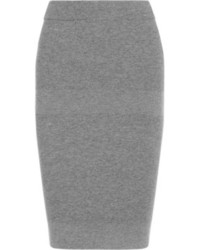 grauer Strick Bleistiftrock von Reed Krakoff