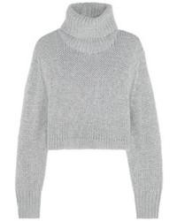 grauer Strick kurzer Pullover von Dion Lee