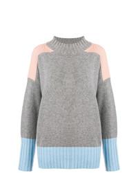 grauer Strick Oversize Pullover von Chinti & Parker