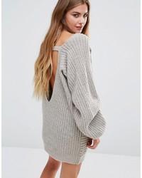 grauer Strick Oversize Pullover von Glamorous