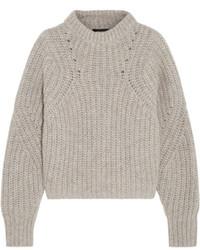 grauer Strick Oversize Pullover von Isabel Marant