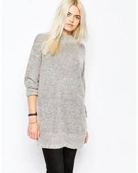 grauer Strick Oversize Pullover von Monki