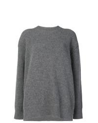 grauer Strick Oversize Pullover von N°21