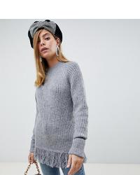 grauer Strick Oversize Pullover von Vero Moda Petite