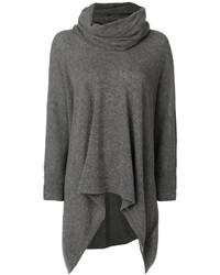 grauer Strick Oversize Pullover von Y's