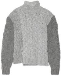 grauer Strick Wollrollkragenpullover von Stella McCartney