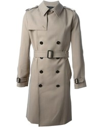 grauer Trenchcoat von Saint Laurent
