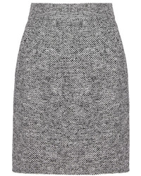 grauer Tweed Bleistiftrock
