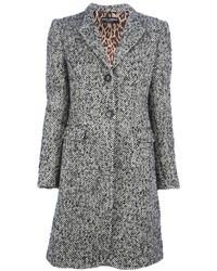 grauer Tweed Mantel
