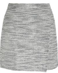 grauer Tweed Minirock