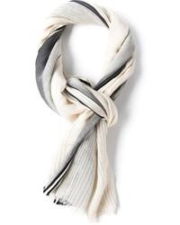 grauer vertikal gestreifter Schal von Bottega Veneta