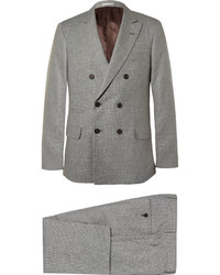 grauer Wollanzug mit Hahnentritt-Muster von Brunello Cucinelli