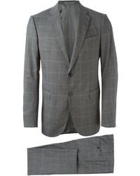 grauer Wollanzug mit Karomuster von Armani Collezioni