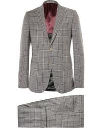 grauer Wollanzug mit Karomuster von Gucci