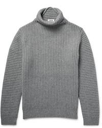 grauer Wollrollkragenpullover von Acne Studios
