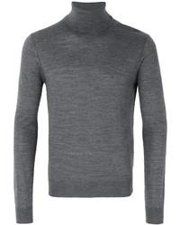grauer Wollrollkragenpullover von DSQUARED2