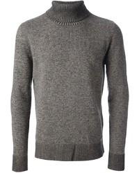 grauer Wollrollkragenpullover von Maison Martin Margiela