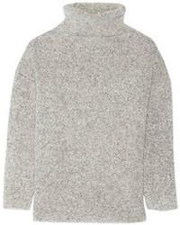 grauer Wollrollkragenpullover von Maje