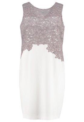 graues ausgestelltes Kleid aus Spitze mit Blumenmuster von Lauren Ralph Lauren Woman