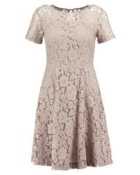 graues ausgestelltes Kleid aus Spitze von Dorothy Perkins