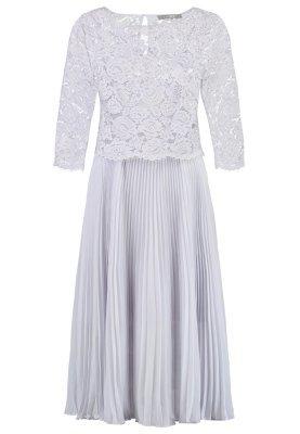 graues ausgestelltes Kleid aus Spitze von Oasis