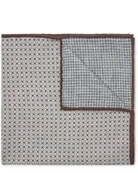 graues bedrucktes Einstecktuch von Brunello Cucinelli