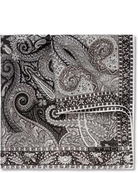 graues bedrucktes Einstecktuch von Etro