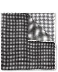 graues bedrucktes Einstecktuch von Lanvin